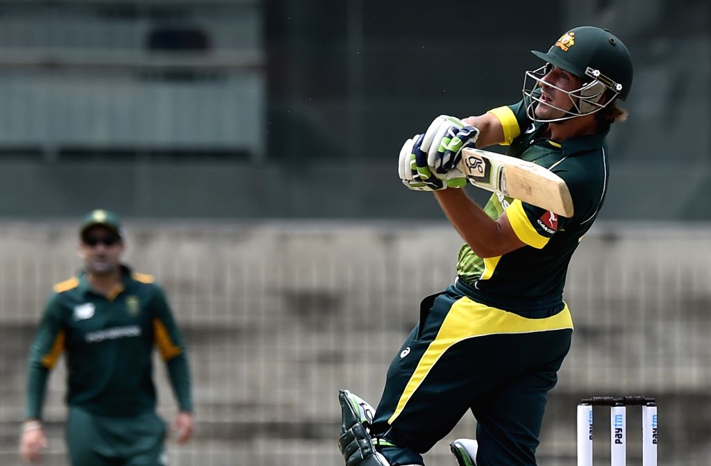 Australia `A` team player Joe Burns in action during India A Team Triangular Series match between South Africa `A` and Australia `A` at MAC Stadium in Chennai, on Aug 5, 2015.