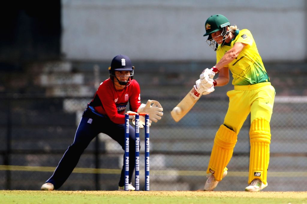 Australia captain Meg Lanning in action during the women's tri-series Final T20I match between Australia and England at the Brabourne Stadium in Mumbai on March 31, 2018. - Meg Lanning