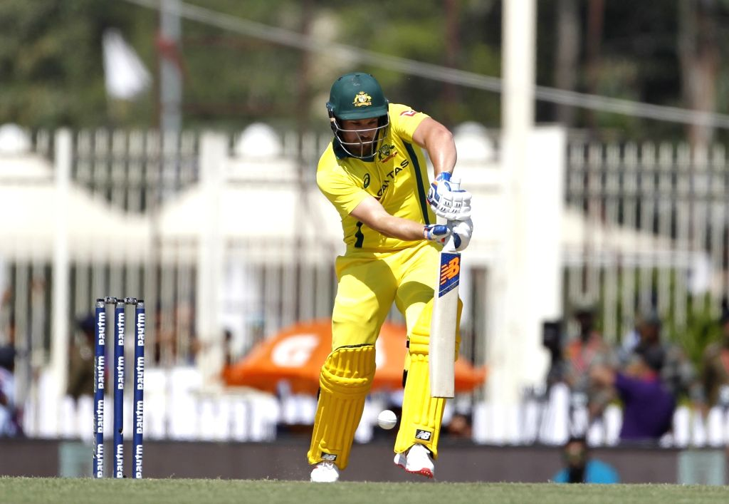 Australia's Aron Finch in action during the third ODI match between India and Australia at JSCA International Stadium Complex in Ranchi on March 8, 2019.