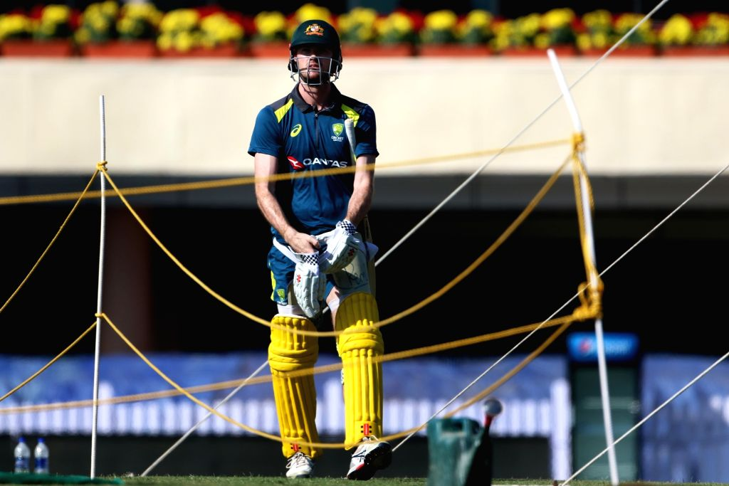 Australia's Kane Richardson during a practice session ahead of the third ODI match against India, in Ranchi, on March 7, 2019.