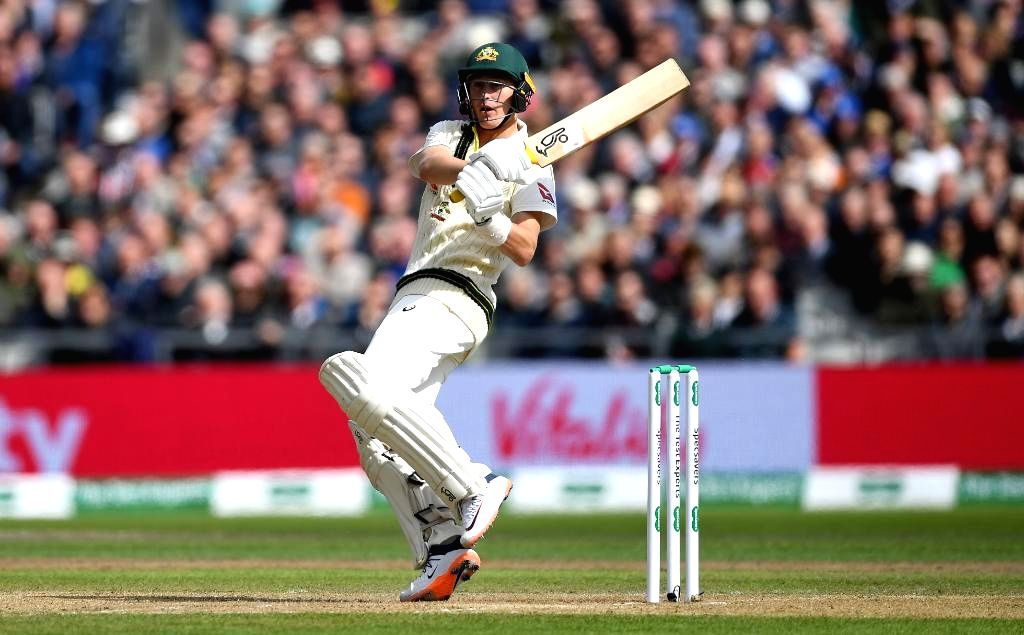 Australia's Marnus Labuschagne in action on Day 1 of the 4th Test match between Australia and England at Old Trafford, in Manchester on Sep 4, 2019.