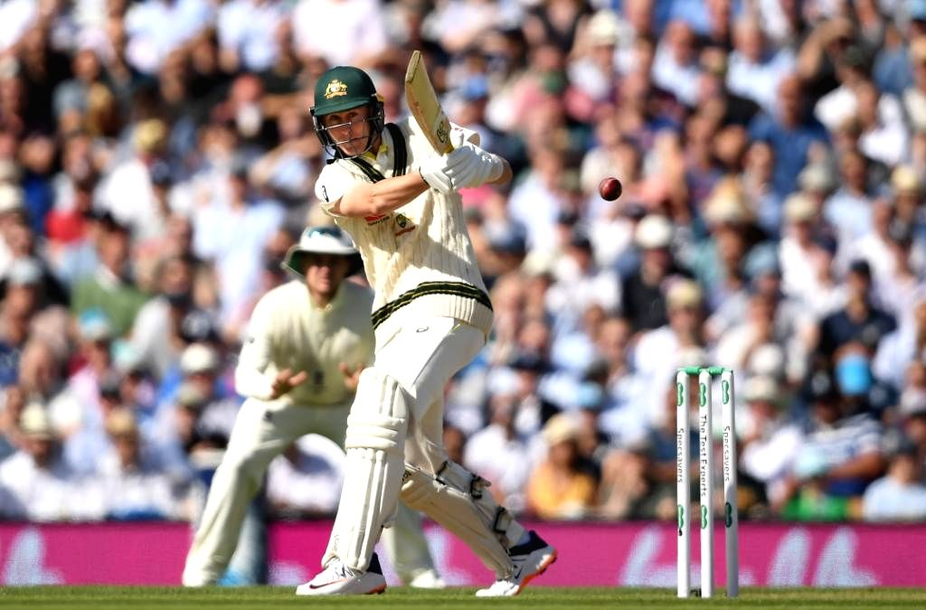 Australia's Marnus Labuschagne in action on Day 2 of the 5th Test match between England and Australia at Kennington Oval in London on Sep 13, 2019.