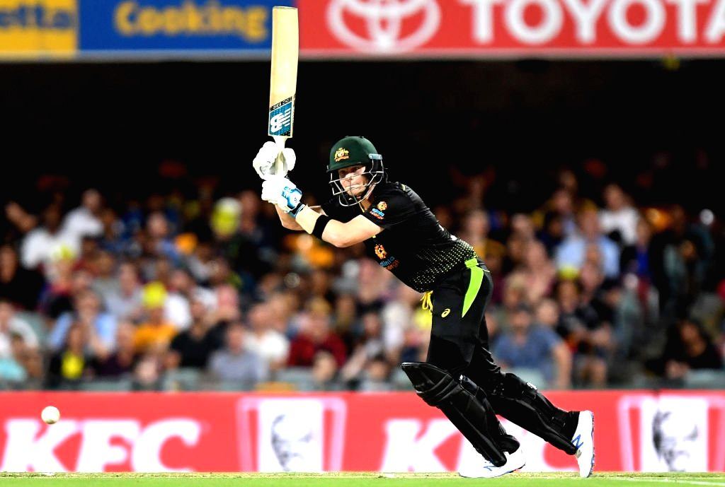 Australia's Steve Smith in action during 2nd T20I match between Sri Lanka and Australia at Brisbane Cricket Ground in Woolloongabba, Brisbane on Oct 30, 2019.