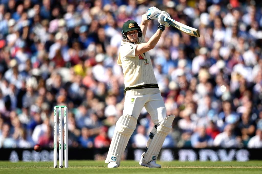 Australia's Steve Smith in action on Day 2 of the 5th Test match between England and Australia at Kennington Oval in London on Sep 13, 2019.