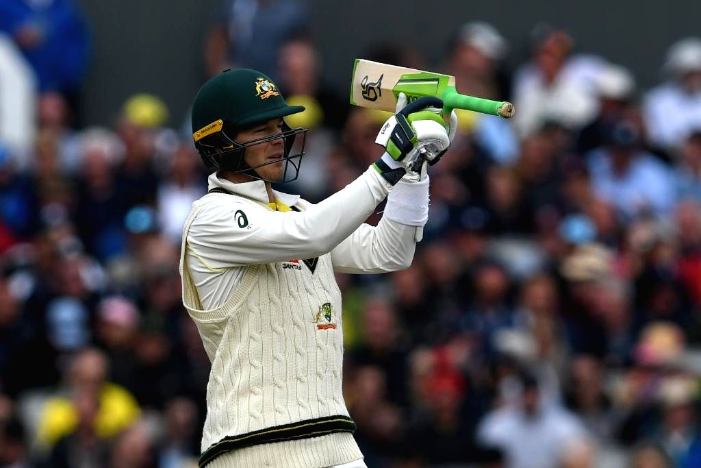 Australia's Tim Paine in action on Day 2 of the 4th Test match between Australia and England at Old Trafford, in Manchester on Sep 5, 2019.