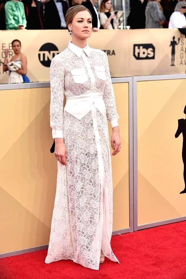 Australian actress Yvonne Strahovski showcases Nirav Modi jewellery. (File Photo: IANS) - Yvonne Strahovski and Nirav Modi