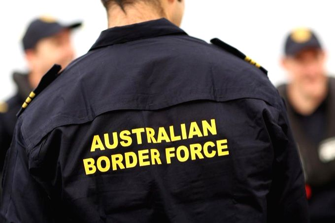 Australian Border Force accused of racism over travel exemptions.(pic credit: https://twitter.com/AusBorderForce)