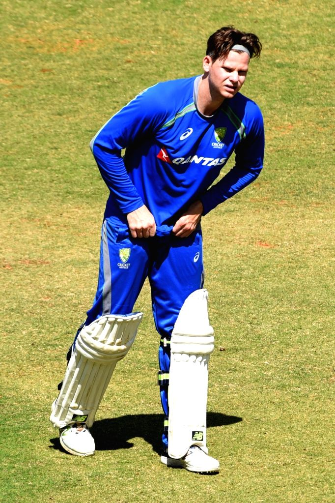 Australian captain Steve Smith during a practice session ahead of the second test match between India and Australia in Bengaluru on March 2, 2017. - Steve Smith