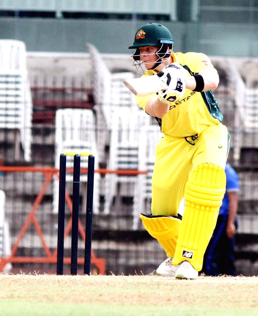 Australian cricketer Hilton Cartwright in action during the Board President's XI vs Australia at MA Chidambaram Stadium in Chennai on Sept 12, 2017.