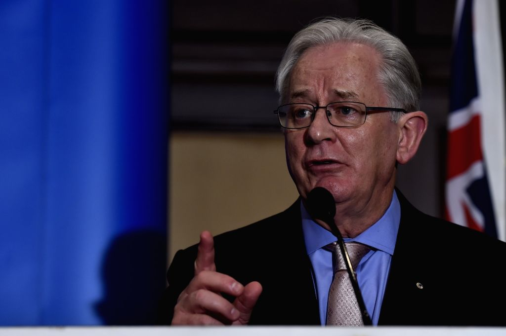 Australian Minister for Trade and Investment Andrew Robb addresses a press conference in Chennai on Oct 28, 2015.