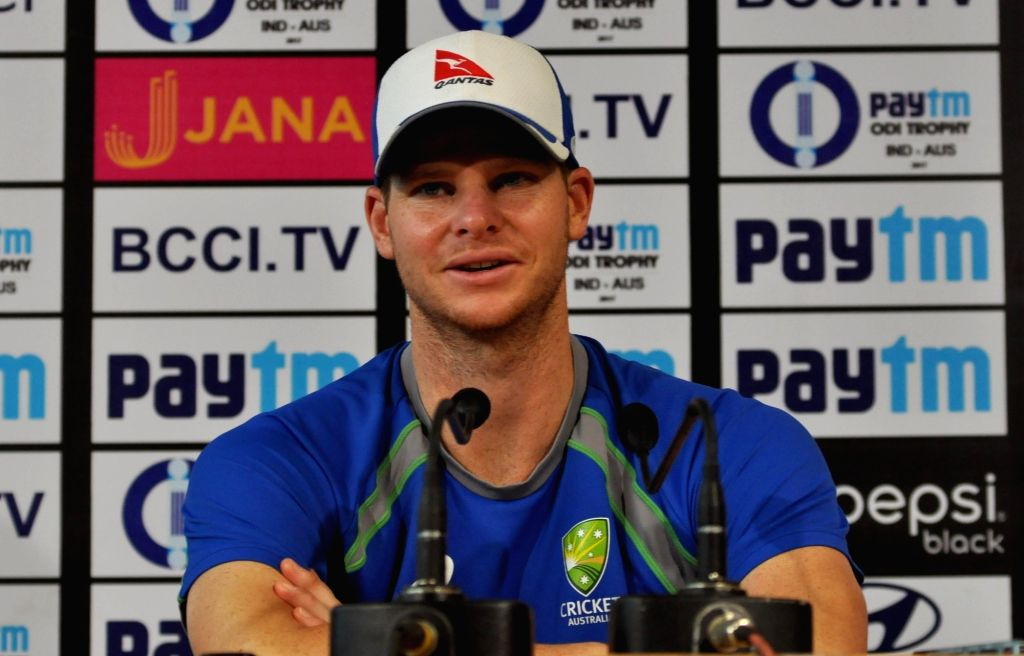 Australian skipper Steve Smith during a  press conference ahead of the 2nd ODI match between India and Australia at Eden Gardens Cricket stadium in Kolkata on Sep 20, 2017.