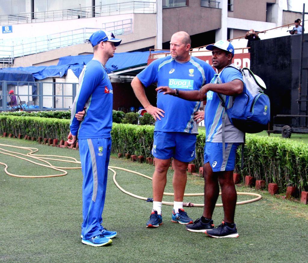 Australian skipper Steven Smith arrives at the Eden Gardens Cricket stadium in Kolkata on Sept 19, 2017.