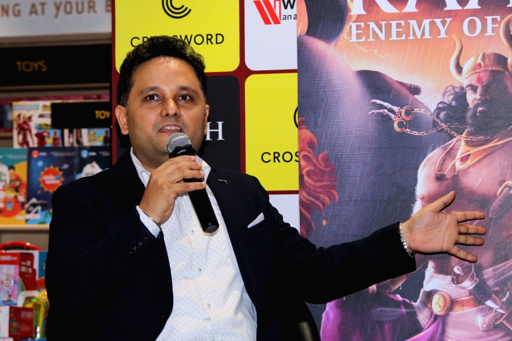 Author Amish Tripathi during his book launch, in Mumbai, on June 3, 2019. - Amish Tripathi