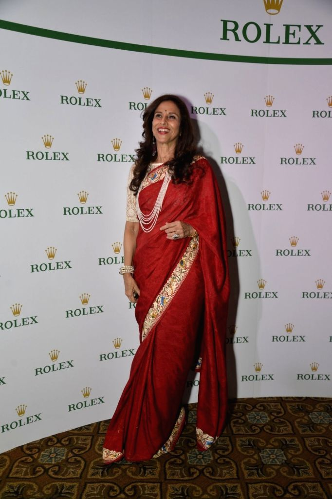 Author and columnist Shobha De at Rolex dinner party in Mumbai on April 17, 2016.