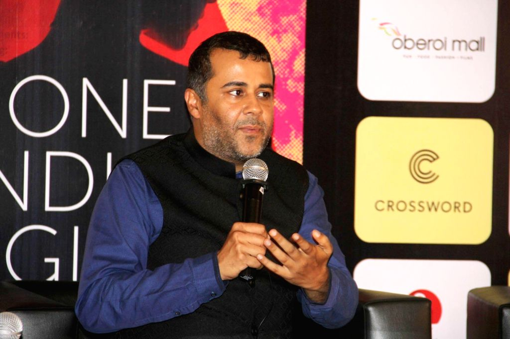 Author Chetan Bhagat during the launch of his book One Indian Girl in Mumbai, on Oct 1, 2016.