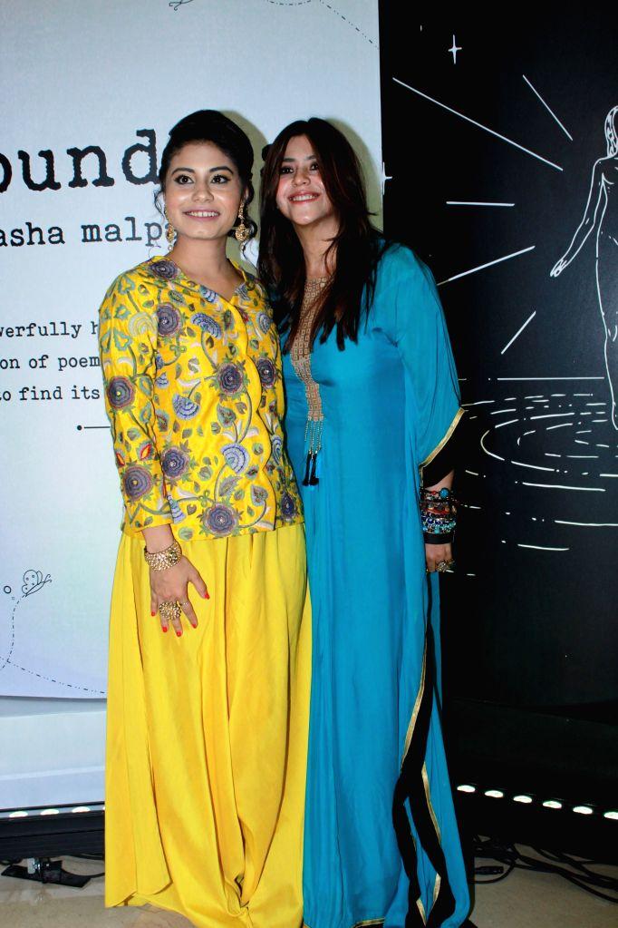 "Author Natasha Malpani Oswal with tv producer Ekta Kapoor at the launch of her book ""Boundless"", in Mumbai, on April 10, 2019. - Ekta Kapoor"