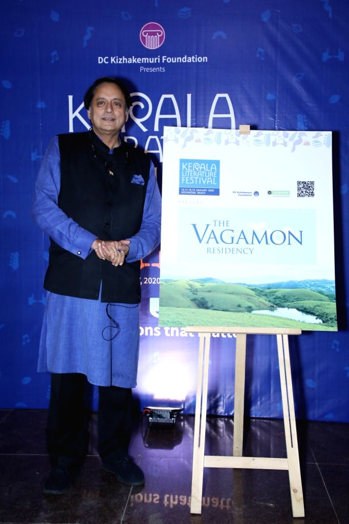 Author-parliamentarian Shashi Tharoor at the curtain-raiser of the 5th edition of the Kerala Literature Festival 2020. - Shashi Tharoor