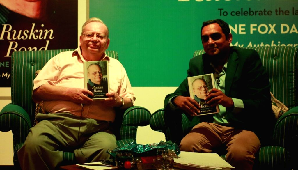 "Author Ruskin Bond at the launch of  his autobiography - ""Lone Fox Dancing - My Autobiography"" in New Delhi, on June 20, 2017."