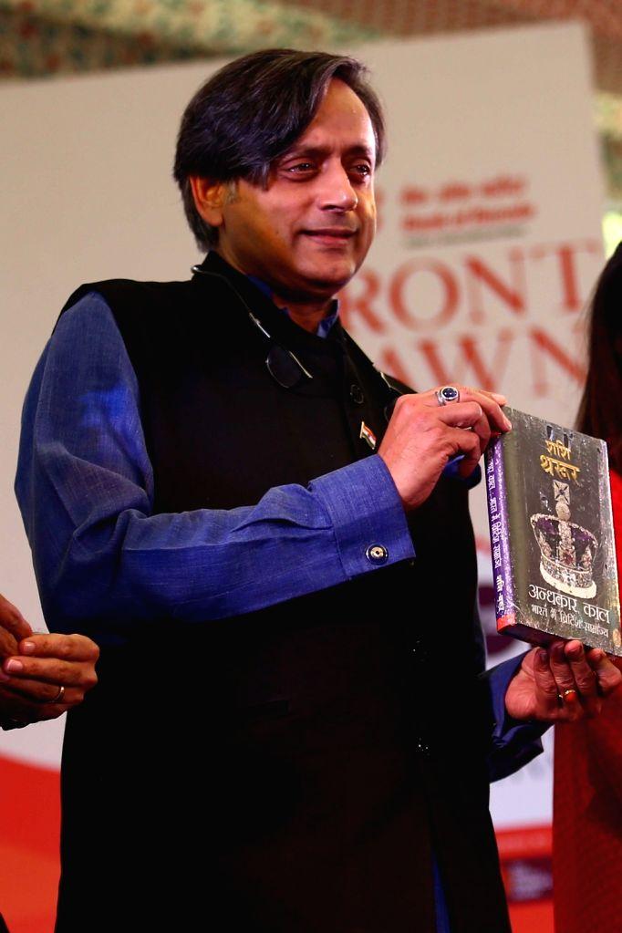 Author Shashi Tharoor during Jaipur Literature Festival 2018 in Jaipur on jan 28, 2018. - Shashi Tharoor