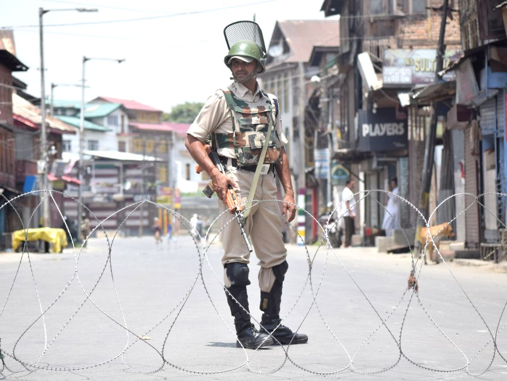 Authorities imposed curfew-like restrictions in parts of Srinagar city as separatists have called for protests marking the death anniversary of Hizbul Mujahideen commander Burhan Wani; on ...