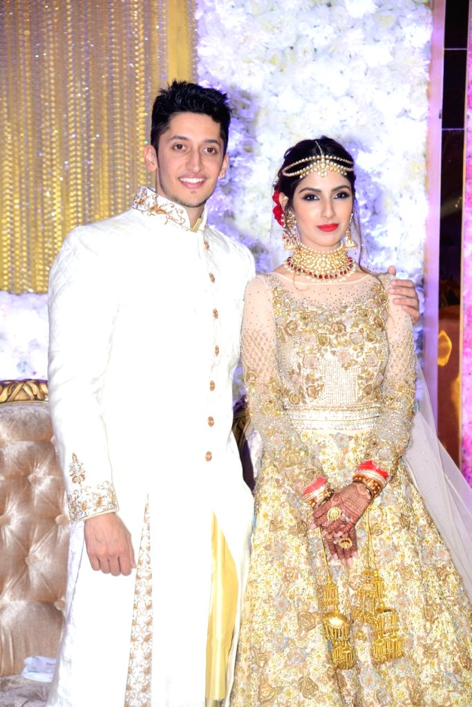 Azhar Morani and Tanya Seth at their wedding reception in Mumbai on Feb. 9, 2019. - Tanya Seth