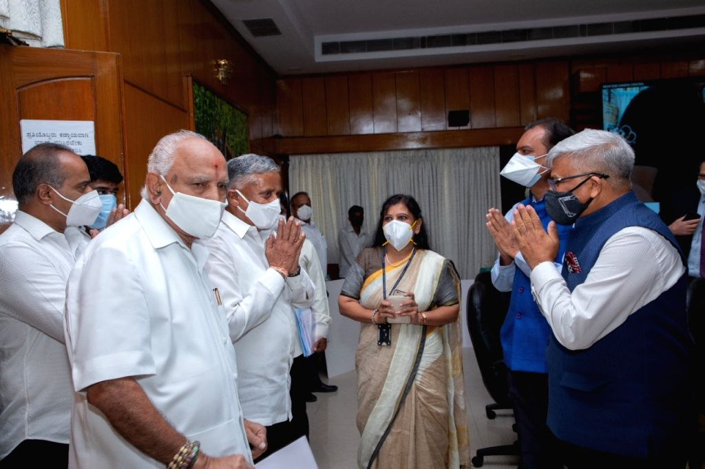 """B'LORE ON: """"CM unveils 56-bed ICU in B???luru hospital for Covid care"""