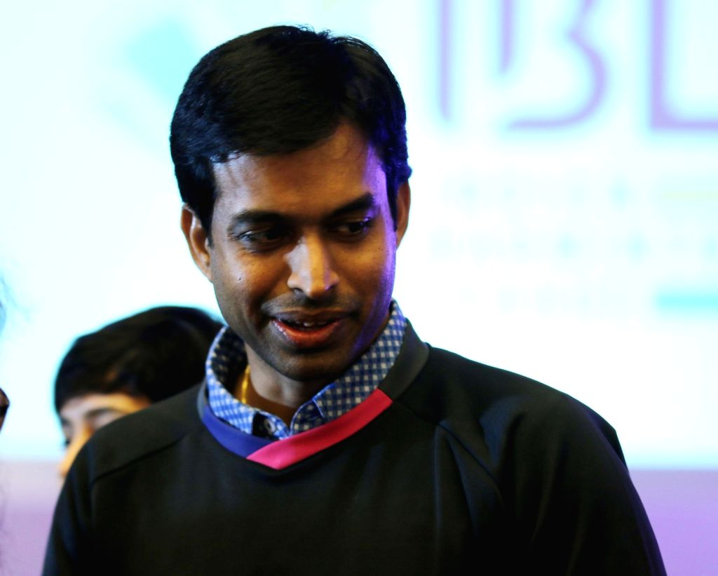 Badminton Chief national coach Pullela Gopichand during a press conference to announce the IBL-2 session in New Delhi on Oct 29, 2015.
