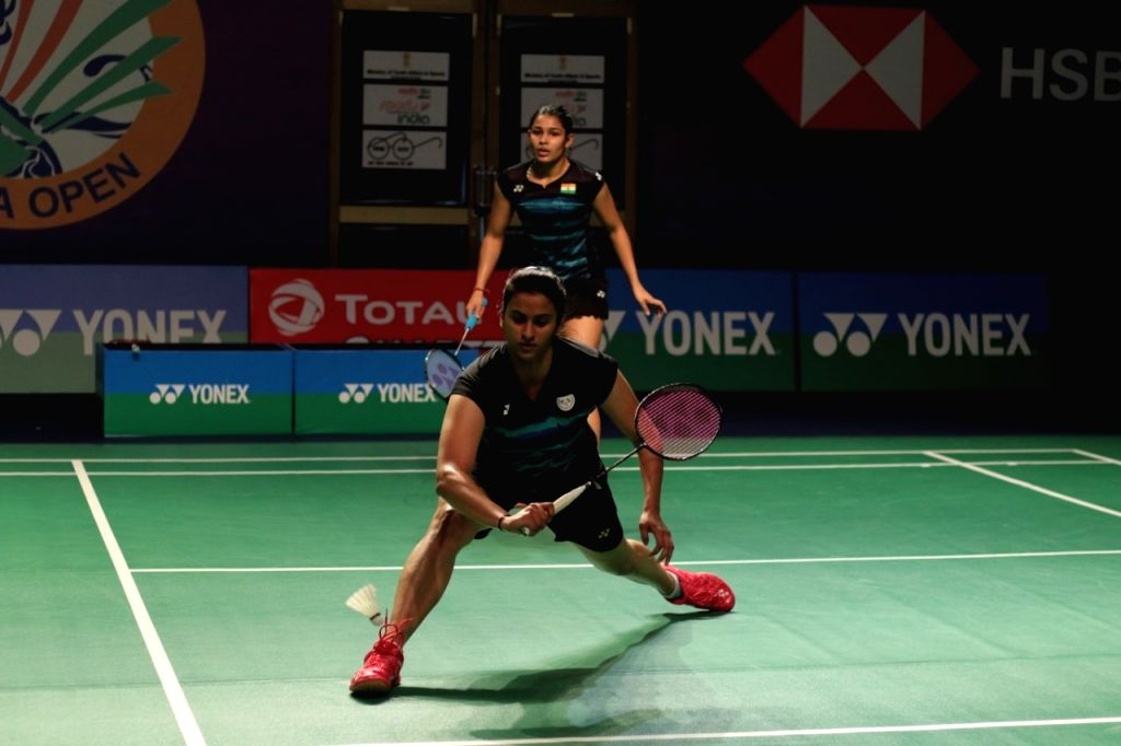 Badminton players Kuhoo Garg and Anoushka Parikh.