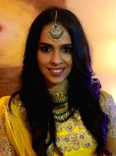 """Badminton star Saina Nehwal posted a photoraph of herself saying: """"I wish everyone a very happy Diwali."""""""
