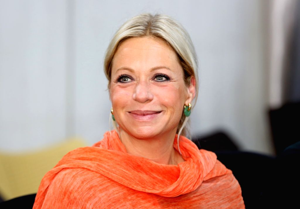 BAGHDAD, Nov. 12, 2019 - Jeanine Hennis-Plasschaert, special representative of the UN secretary-general for Iraq, attends a meeting in Baghdad, Iraq, Nov. 12, 2019. Jeanine Hennis-Plasschaert, ...
