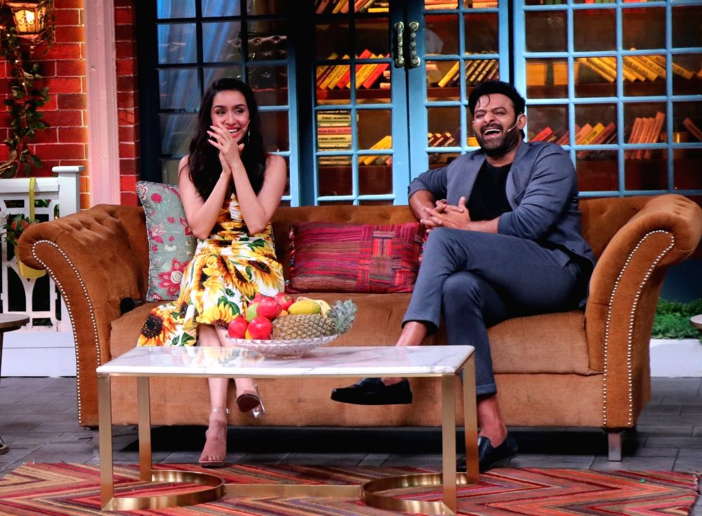 "Bahubali"" superstar Prabhas and actress Shraddha Kapoor during the promotions of their upcoming film ""Saaho"" on the sets of comic show ""The Kapil Sharma Show"". - Shraddha Kapoor"