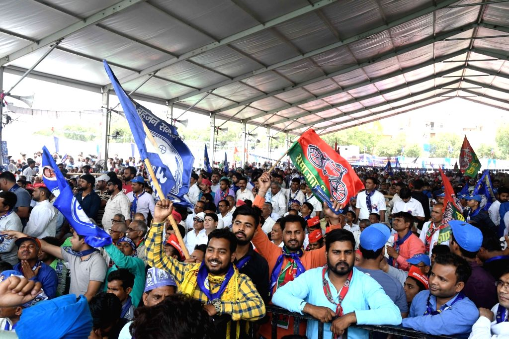 Bahujan Samaj Party (BSP) supporters during party chief Mayawati's public rally in New Delhi, on May 10, 2019.