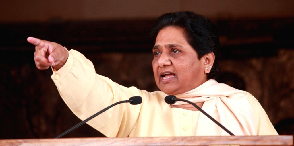 Bahujan Samaj Party (BSP) supremo Mayawati addresses a press conference in Lucknow on March 11, 2017.