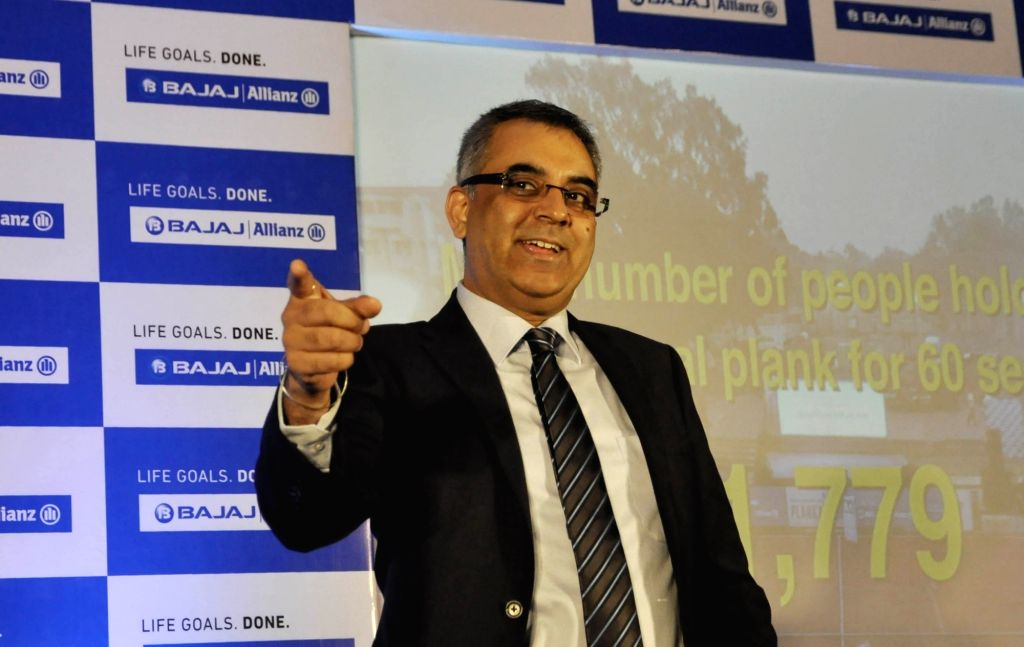 Bajaj Allianz Life Insurance Chief Institutional Business Officer Dheeraj Sehgal during a press conference in Kolkata, on Feb 13, 2019.