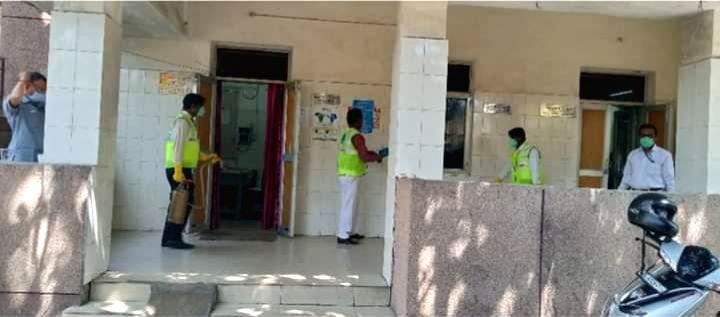 Bakkarwala flats sanitised for quarantine of Nizamuddin suspected cases.