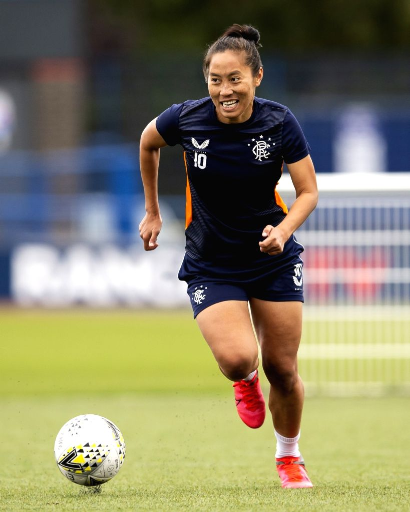 Bala Devi returns to footballing action for Rangers FC in Scotland.