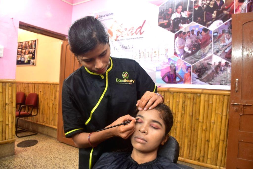 Bamboo beauty salon.