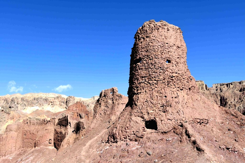 BAMIYAN, March 31, 2018 - Photo taken on March 28, 2018 shows the Shahr-e-Zuhak, also known as The Red City, in Bamiyan province, Afghanistan. The site, along with other historical sites in Bamiyan, ...