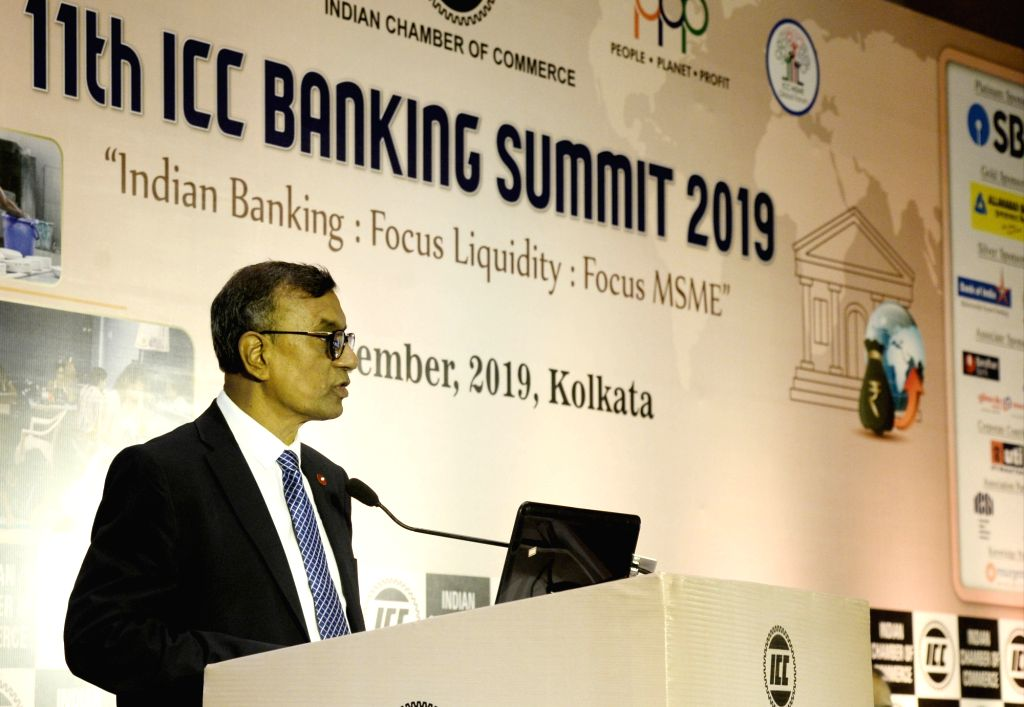 Bandhan Bank MD and CEO C. S. Ghosh addresses during 11th Banking Summit 2019 in Kolkata on Aug 5, 2019. - C. S. Ghosh