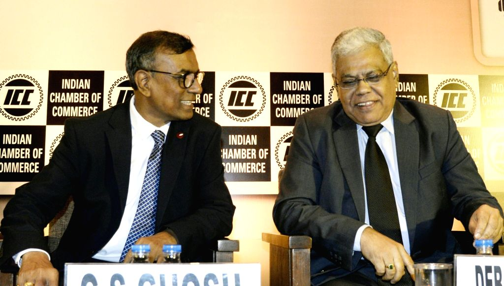 Bandhan Bank MD and CEO C. S. Ghosh and Bank of India Director and Former Union Bank of India CMD D. Sarkar during 11th Banking Summit 2019 in Kolkata on Aug 5, 2019. - C. S. Ghosh