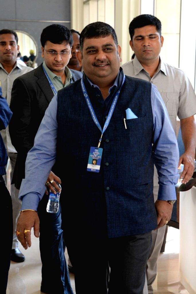 Former Indian cricketer and the chairman of Indian Premier League Ranjib Biswal at the player auctions of the IPL 2015 edition in Bangalore, on Feb 16, 2015.