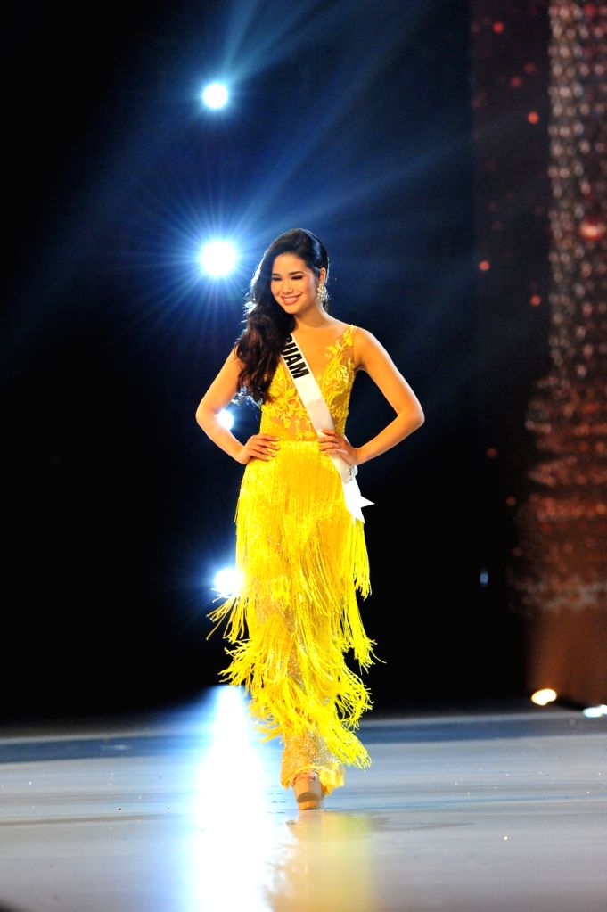 BANGKOK, Dec. 14, 2018 - A contestant participates in the 67th Miss Universe competition in Bangkok, Thailand, Dec. 13, 2018.