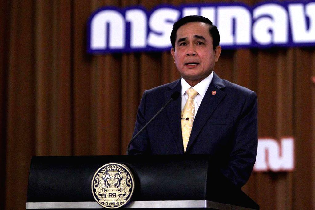 Thai Prime Minister Prayuth Chan-ocha speaks at a press conference in Bangkok, Thailand, Dec. 25, 2014. - Prayuth Chan