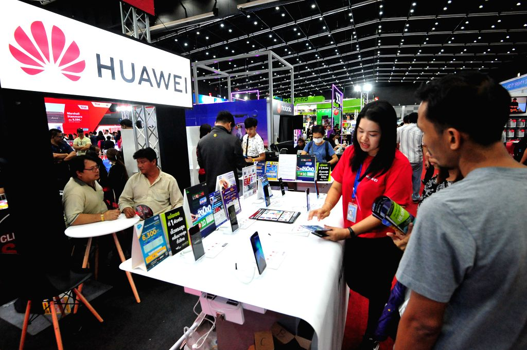 BANGKOK, Feb. 7, 2019 - People visit the Thailand Mobile Expo 2019 in BITEC Bangna Exhibition in Bangkok, Thailand, Feb. 7, 2019.