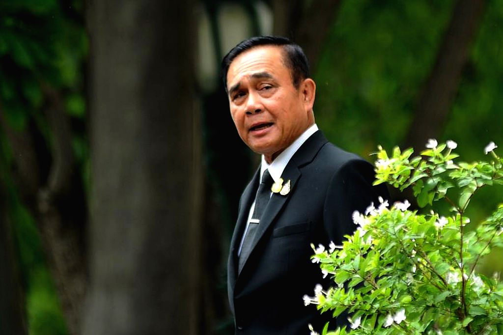 BANGKOK, June 6, 2019 - Thai Prime Minister Prayut Chan-o-cha reacts as he heads to a meeting at the Government House in Bangkok, Thailand, June 6, 2019. Thailand's current Prime Minister Prayut ... - Prayut Chan