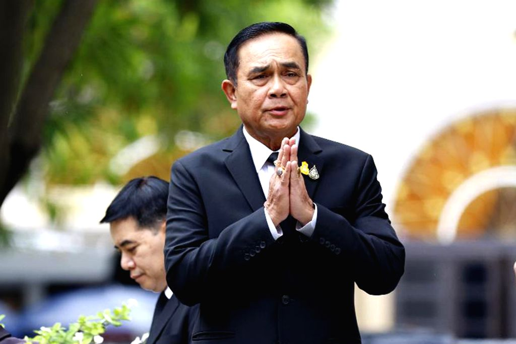 BANGKOK, June 6, 2019 - Thai Prime Minister Prayut Chan-o-cha speaks to journalists before a meeting at the Government House in Bangkok, Thailand, June 6, 2019. Thailand's current Prime Minister ... - Prayut Chan