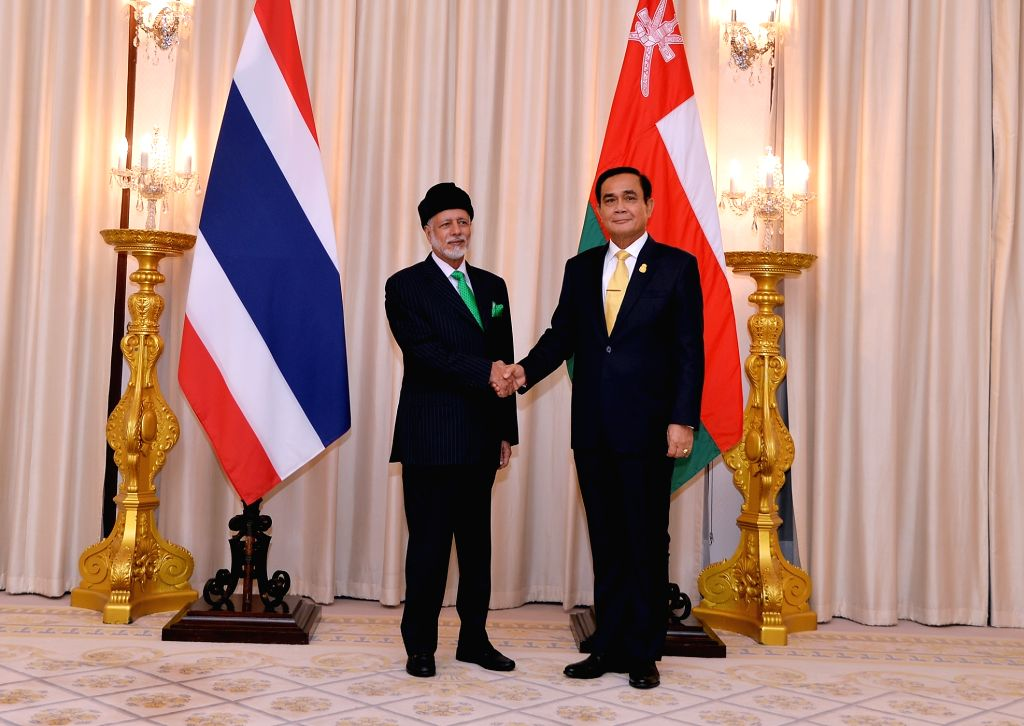 BANGKOK, March 11, 2019 - Thai Prime Minister Prayut Chan-o-cha (R) meets with Oman's Minister Responsible for Foreign Affairs Yousuf bin Alawi bin Abdullah in Bangkok, Thailand, March 11, 2019. - Prayut Chan