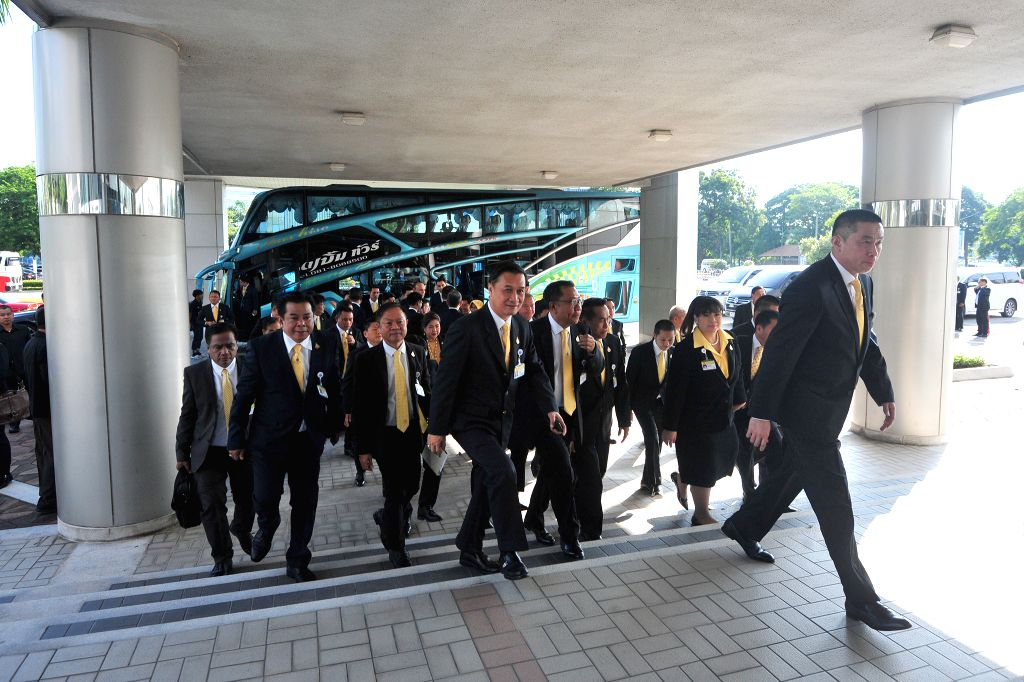 BANGKOK, May 25, 2019 - Members of Parliament arrive for the meeting to vote for the new speaker of the House of Representatives in Bangkok, Thailand, May 25, 2019. Thailand's former prime minister ... - Chuan Leekpai