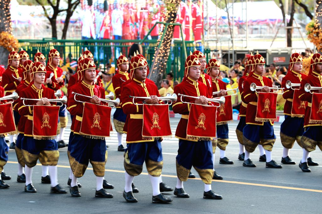BANGKOK, May 5, 2019 - Members of the Royal Guard take part in the Royal Coronation in Bangkok, Thailand, May 5, 2019. Thailand's His Majesty King Maha Vajiralongkorn on Sunday took a grandiose, ...