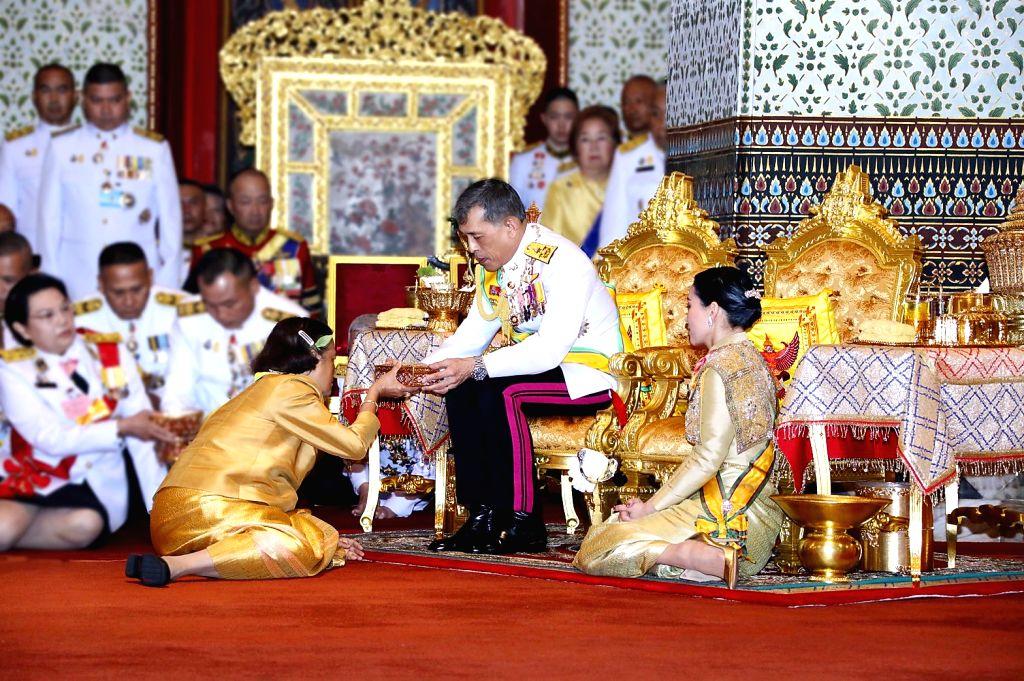BANGKOK, May 6, 2019 - Thai King Maha Vajiralongkorn grants new title and royal medals to Princess Maha Chakri Sirindhorn in Bangkok, Thailand, May 5, 2019. Thailand's newly crowned King Maha ...